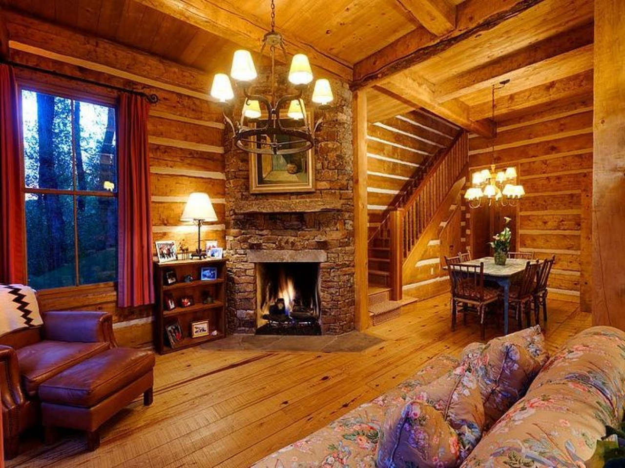 Cabin interior fireplace - Beautiful Photo Source Mexzhouse With Cabin Fireplace