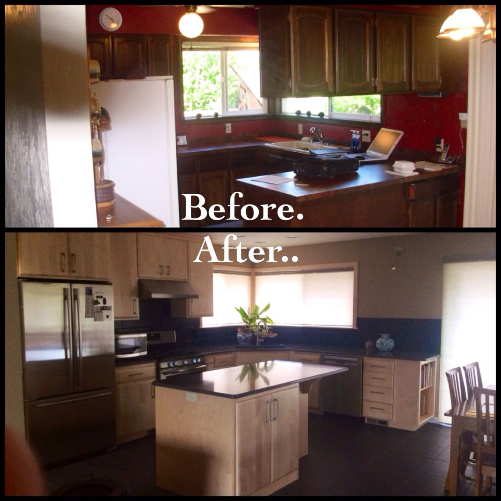Remodel Kitchen Before And After image of affordable kitchen remodel and design ideas. cheap