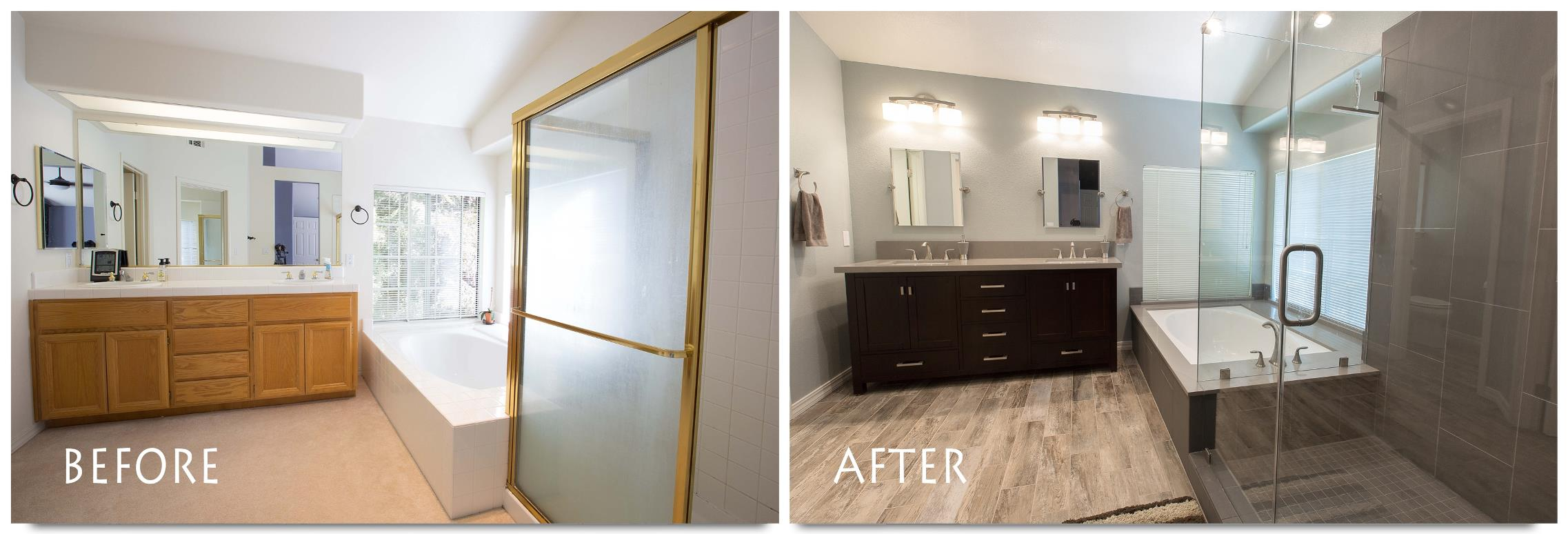 Wonderful Master Bathroom Remodels Before And After To Get