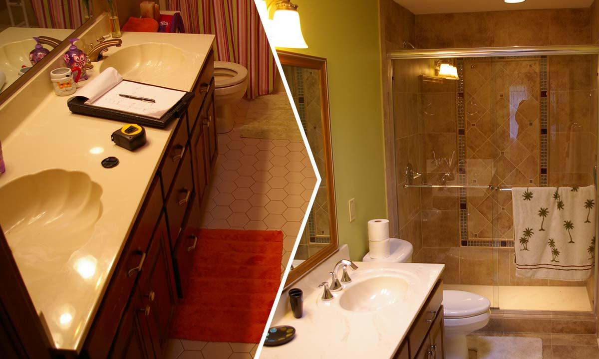 shower curtains bathroom remodeling ideas | lovelyspaces.com