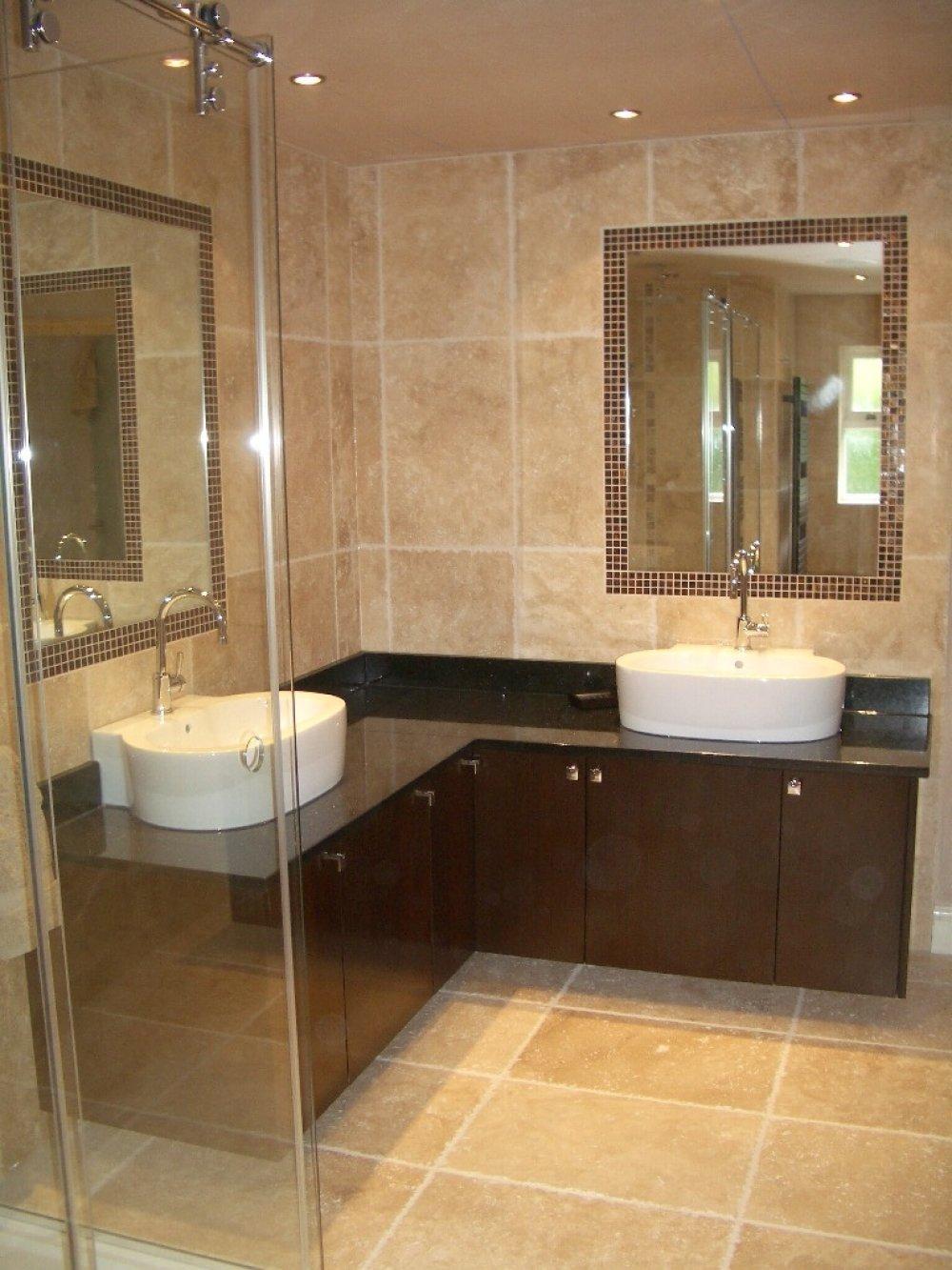 his and hers bathroom vessel sink   lovelyspaces.com