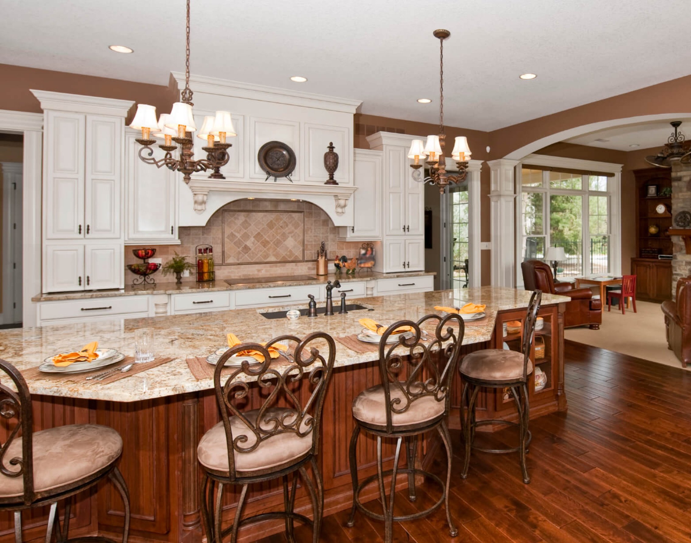 custom made kitchen island with seating | lovelyspaces.com