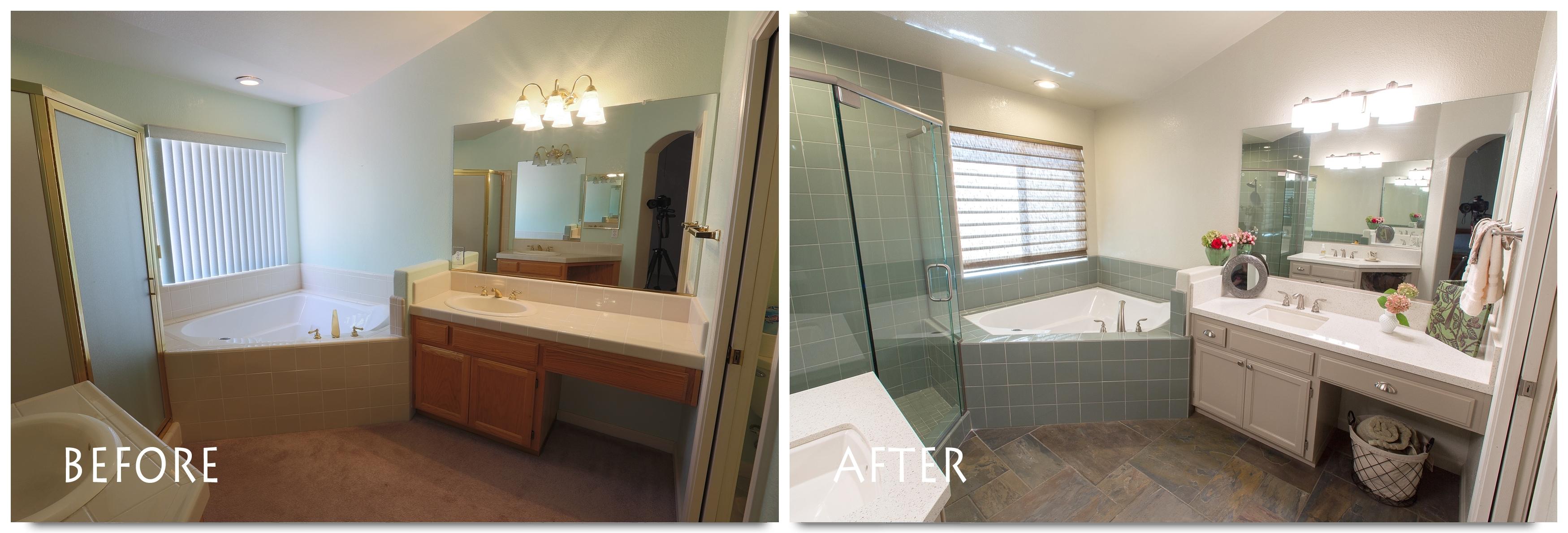 dark to light bathroom remodeling ideas | lovelyspaces.com