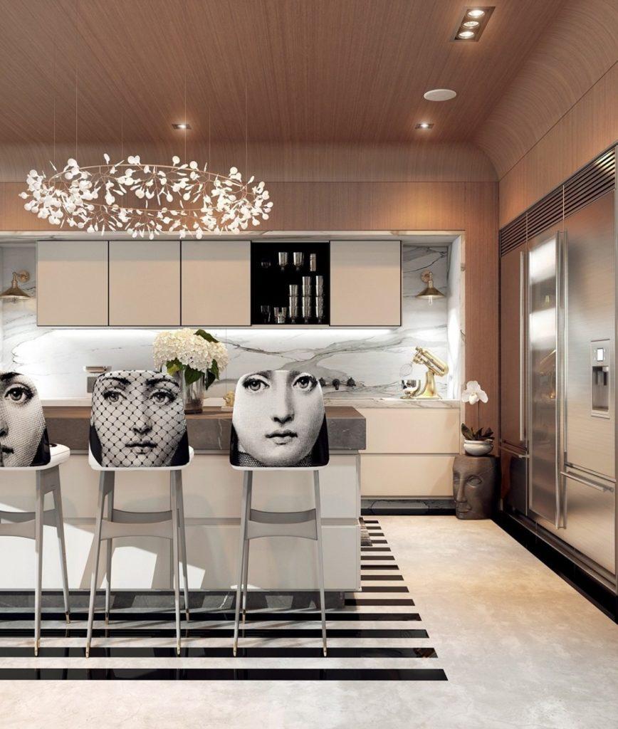 greek designed kitchen island | lovelyspaces.com