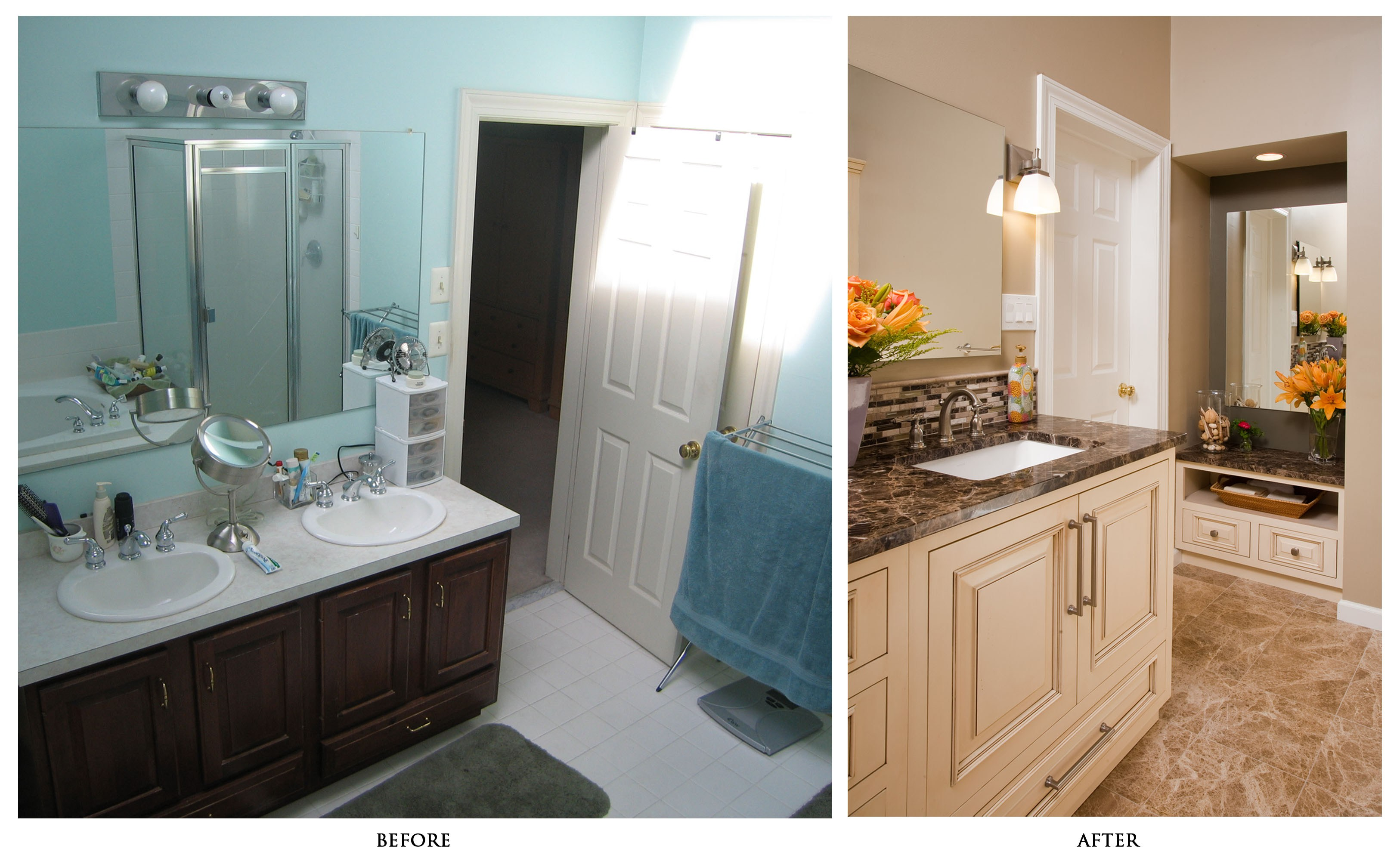 more storage space bathroom remodeling ideas | lovelyspaces.com