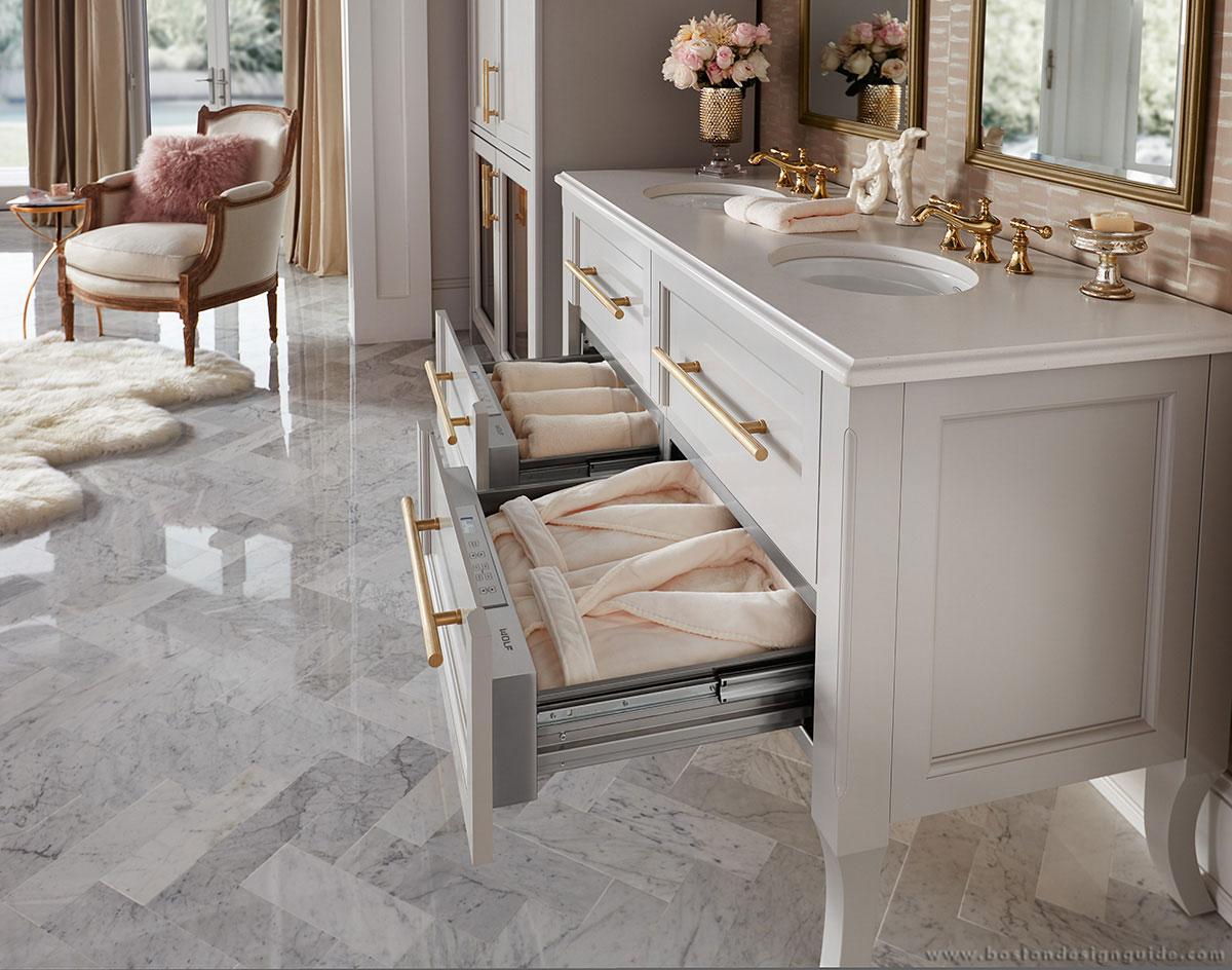 wolf appliance his & hers bathroom sinks   lovelyspaces.com